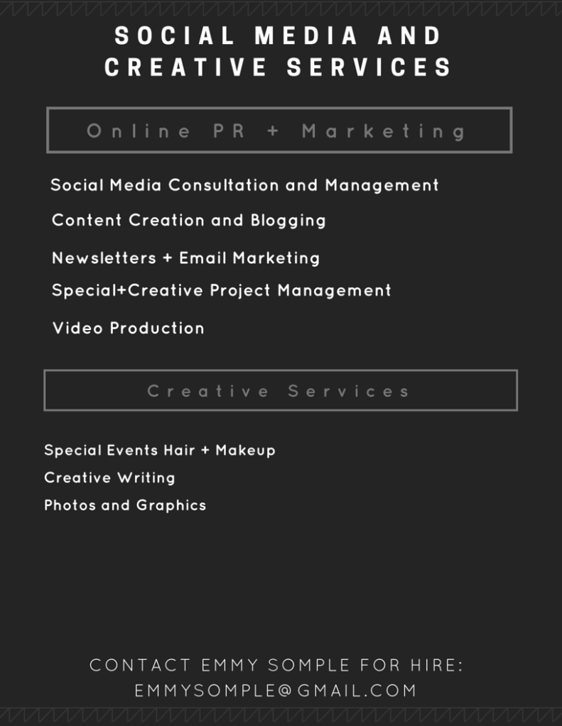 Social Media and Creative services